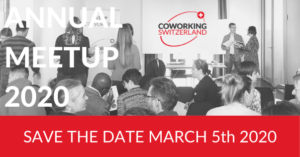 Coworking Switzerland Annual Meetup 2020: 5 March in Aarau!